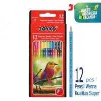 Pensil warna Superior Quality 12 Warna Color Pencil CP-105 Joyko