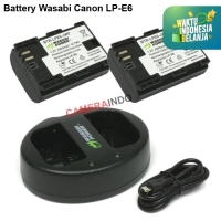 Battery Wasabi Canon LP-E6 lPE6 plus charger kit for Canon kamera