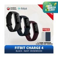 FITBIT CHARGE 4 Health and Fitness Tracker - GARANSI RESMI 1 TAHUN - BLACK