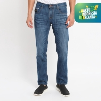 Papperdine 008 Bleach Slim Fit Celana Panjang Jeans Pria Selvedge