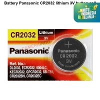 Battery Panasonic CR2032 lithium 3V button cell