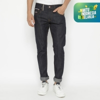 Papperdine 901 Raw Slim Celana Panjang Jeans Pria Sanforized Selvedge