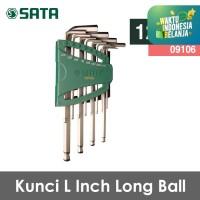 Kunci L Set 12 pcs Long Ball Point Hex Key Set SAE 09106 Sata Tools