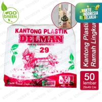 Kantong Plastik Kantong Kresek Ramah Lingkungan Go Green ukuran 29