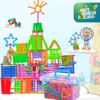 Mainan Anak Bongkar Pasang Puzzle Stick 420pcs ~ SMART BUILDING STICK