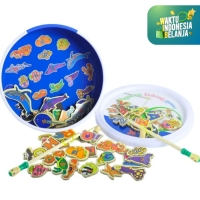 Mainan Edukasi Anak Game Pancingan Magnet Ikan - MAGNETIC FISHING GAME