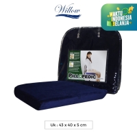 Bantal Alas Duduk Memory Foam / Willow Pillopedic Seat Cush BLUE