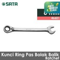 SATA Reversible Ratchet 8 MM Wrench Bolak Balik 46601