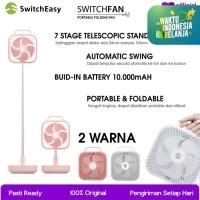 SwitchFan Portable Fan SwitchEasy 10.000 mAh USB-C Kipas Angin Lipat - White