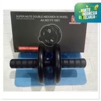 Ab wheel super mute double Abdomen In wheel Abs roller IMPORT TERBARU