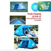 TendA Kemping camping family Otomatis Tenda hiking(4 orang) LX018-12