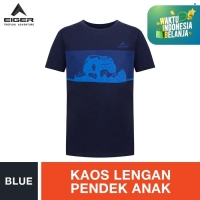 Eiger Kids Mud Crusher T-shirt - Blue