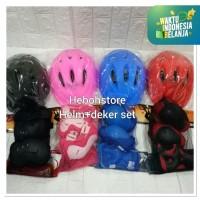 Helm helmet sepeda /sepatu roda serbaguna +DEKKER PELINDUNG SET S 002