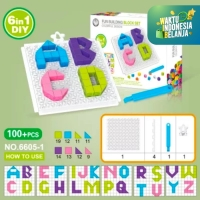 Mainan Edukasi Anak Anak Puzzle Brick 6 in 1 ~ DIY TOY BRICKS PUZZLE
