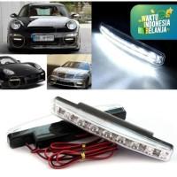 Lampu Fog Lamp Daytime Running Light DRL Mobil 8 LED 6000K 12V 1Pcs