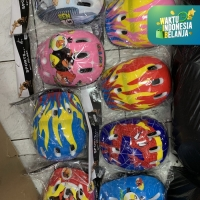 Helm helmet inline sepeda sepatu roda Anak MOTIF KARAKTER murah