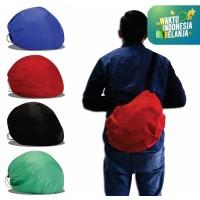 Cover Sarung Tas Helm Jas Hujan Helm Raincoat Anti Air Slingbag Polos