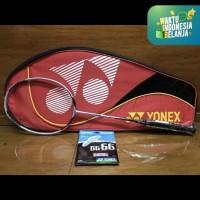 Raket Badminton YONEX VOLTRIC 200 LIGHT LCW +Tas+GRIP+SENAR BG66 ORI