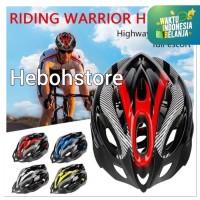 Helm helmet riding warrior unisex bagus L 005 terbaru