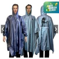 Jas Hujan OMG Poncho Lengan Karet PVC 100% Waterproof Ponco Raincoat