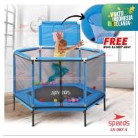 Trampoline mainan Lompat anak SPEEDS 55inch 140CM JUMP FITNESS LX067-5