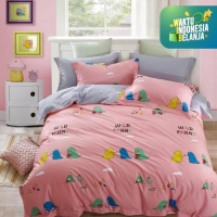 Sleep Buddy Set Sprei Wild Friend Cotton Sateen Single Size