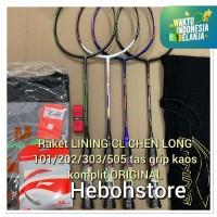 Raket Badminton LINING CL CHEN LONG 101/202/303/505 KOMPLIT SET ORI