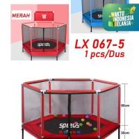 "Mini trampoline 55""inch +Keranjang Bola Basket/Mainan Anak LX067-5"