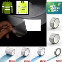 Stiker Reflektor Nyala Untuk Kain Baju Jaket Jas Hujan Press Panas