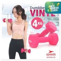 Dumbell barbel 4KG VINYL SPEEDS ALAT ANGKAT BEBAN LX 012-12