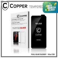 Vivo Y30 - COPPER Tempered Glass FULL GLUE PREMIUM GLOSSY