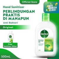 Dettol Hand Sanitizer Original 500 ml Flip top Bottle FREE 100ml