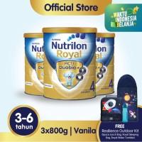 Paket 3 - Nutrilon Royal 4 Susu Pertumbuhan 3-6 Thn Vanila 800gr