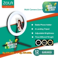Zola Ring Light LED 26cm With Medium Tripod For Tiktok Volg & Make up