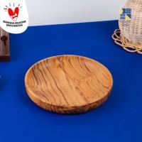 Amy Teak Circle Tray / Nampan Kayu Bulat / Wooden Tray