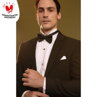 Kemeja Tuxedo Putih Wedding Wing Tip Collar Shirt Kemeja Formal Bowtie - XL
