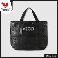 The Goods Dept Tote Bag Unisex MESH TOTE BAG Black