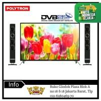 Polytron Led TV PLD50TS883 FHD 50inch Speaker Tower Garansi 5 tahun