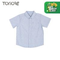 Torio Blue Stripe Shirt - Kemeja Anak Laki-laki
