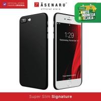 ASENARU iPhone 7/8 Plus Case - Super Slim Signature - Pitch Black