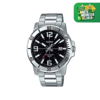 Jam Tangan Casio Enticer Stainless Steel Black Dial MTP-VD01D-1B