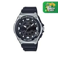 Jam Tangan Casio Analog MWC-100H-1AVDF Black Dial Black Resin Strap