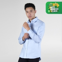 Kemeja Lengan Panjang Smith Berlin Begin Barry Slim Fit Light Blue