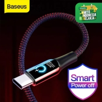 KABEL DATA TYPE-C BASEUS AUTOMATIC POWER-OFF FAST CHARGE 3A - Hitam