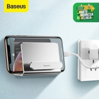BASEUS WALL MOUNTED METAL GANTUNGAN TEMPEL DINDING PHONE STAND HOLDER