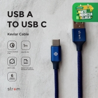 Strom Kabel Data Charger USB Type C Quick Charge QC 3.0 Cable 1M Blue