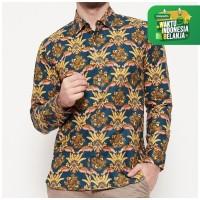 Odza Classic Kemeja Batik Rama Biru