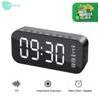 Inone Mirror Digital Speaker Alarm FM Wireless BT5 0 Adjustable - Hitam