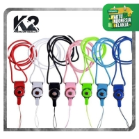 Tali Gantungan HP 2in1 / Strap Gantungan HP Model Kalung