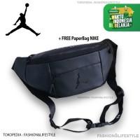 Nike Air Jordan Waistbag - Belt Bag Logo Leather Black Original 100%
